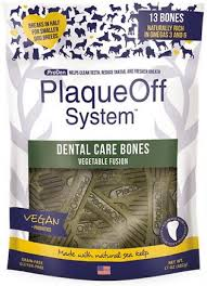 PlaqueOff System-Dental care bones-Vegetable Fusion, 17oz/482g