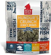 Hundur's Crunch Jerky Minis Fish Dog Treats 10oz/283g