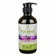 True Leaf, True Hemp Oil Immune + Heart Support for Dogs 8oz/237ml