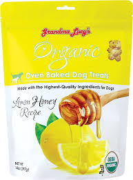 Grandma Lucy's Organic Lemon Honey Recipe Oven Baked Dog Treats, 14oz/397g