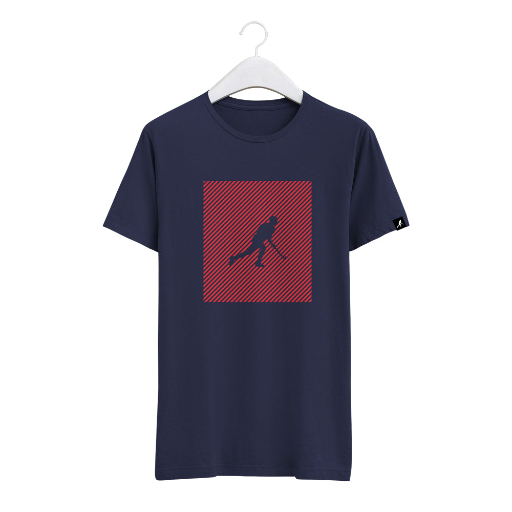 Navy Tee Red Square