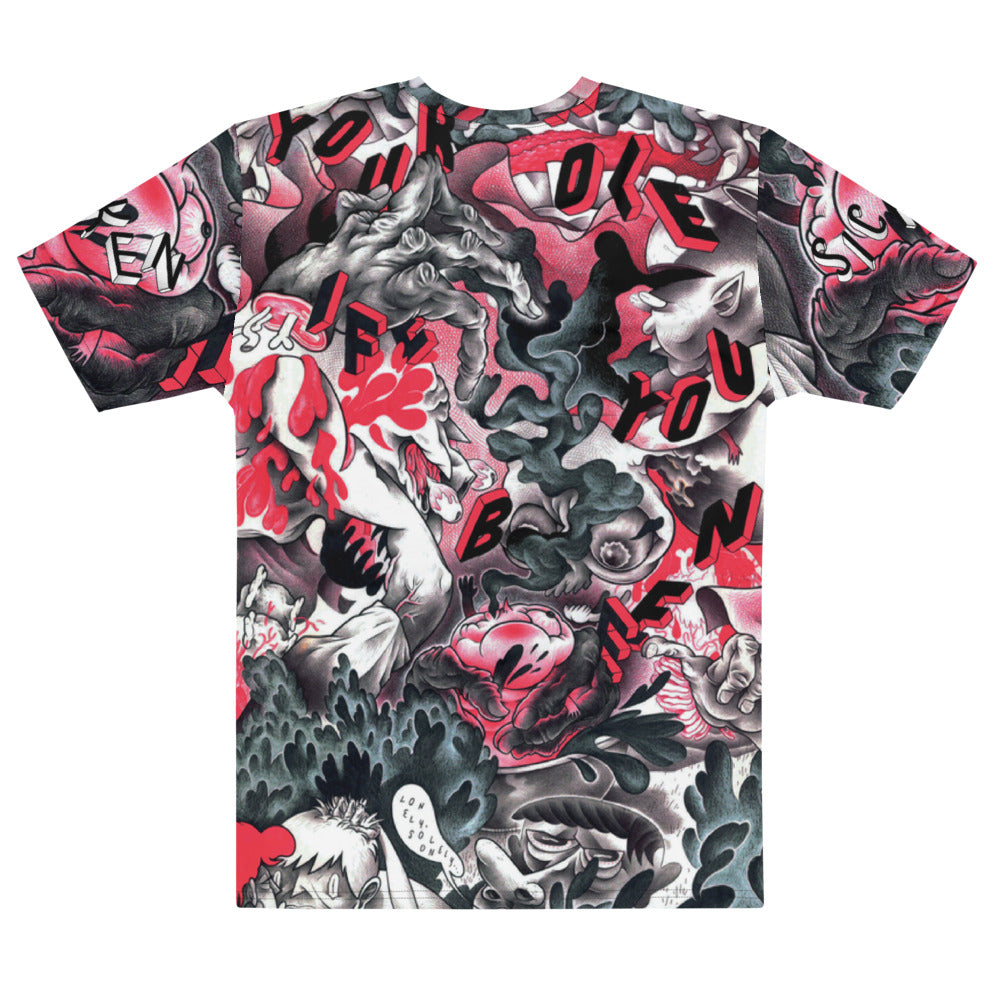 Lonely Men's Sublimation Tee - SICKEN