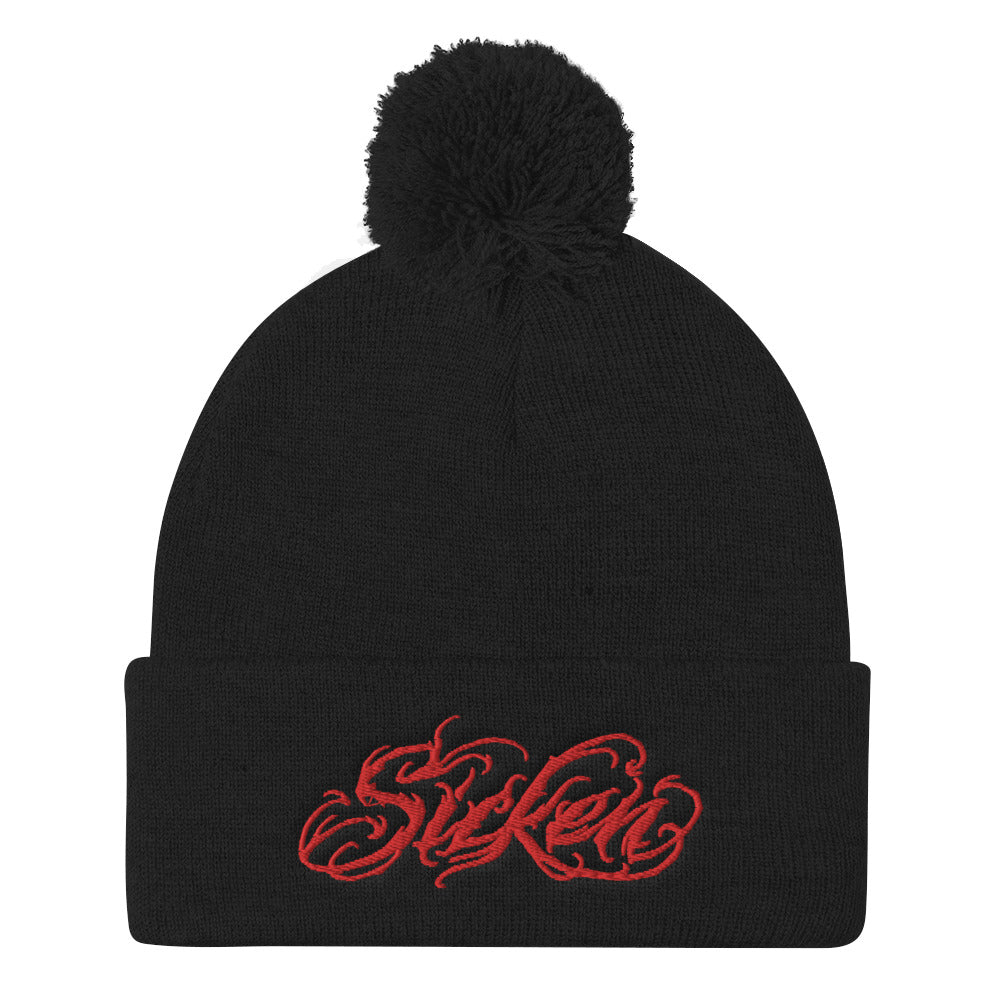 SICKEN Pom Pom Knit Cap - SICKEN