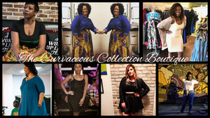 collage of customers wearing TCC Boutique clothes