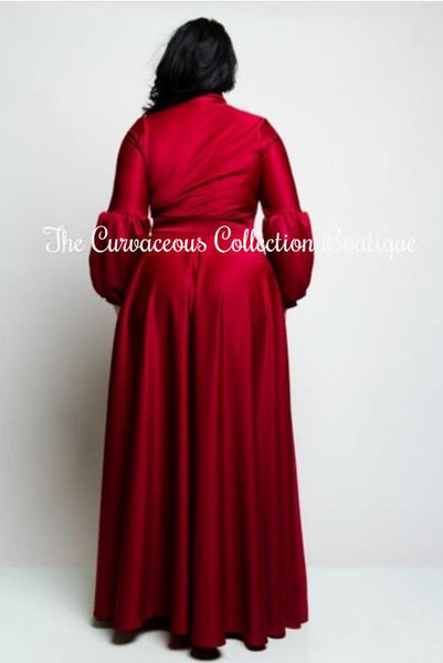 COLOUR SOLID MAXI DRESS-Dresses & Skirts-2X-
