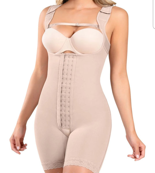 Chole: Wide Strap Mid-Thigh Body Shaper