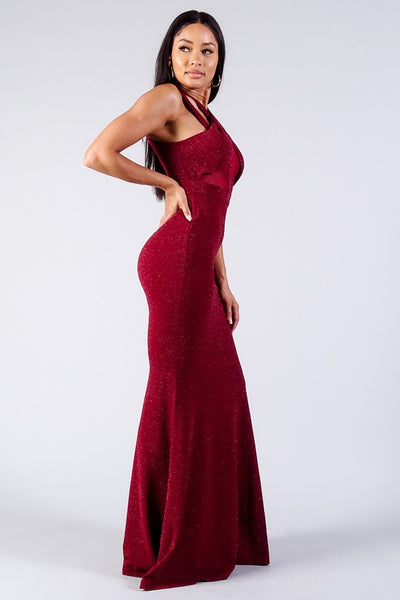CHERRY MERMAID MAXI GOWN