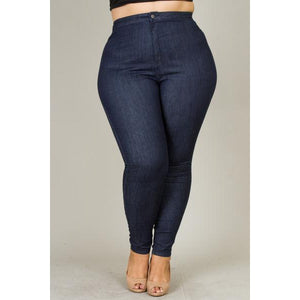 CHAOS HIGH WAIST JEANS-Bottoms-The Curvaceous Collection Boutique