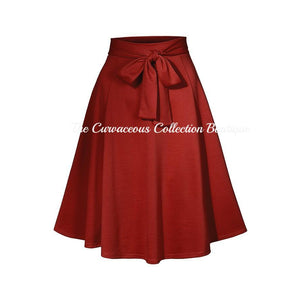 CALLE HIGH WAIST SKIRT-Bottoms-Rust-Small-