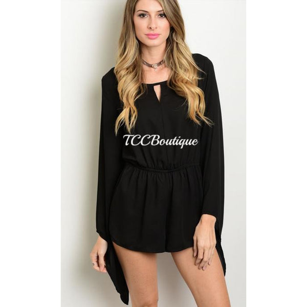 CALISTA BELLE SLEEVE ROMPER-Jumpsuits & Rompers-Small-