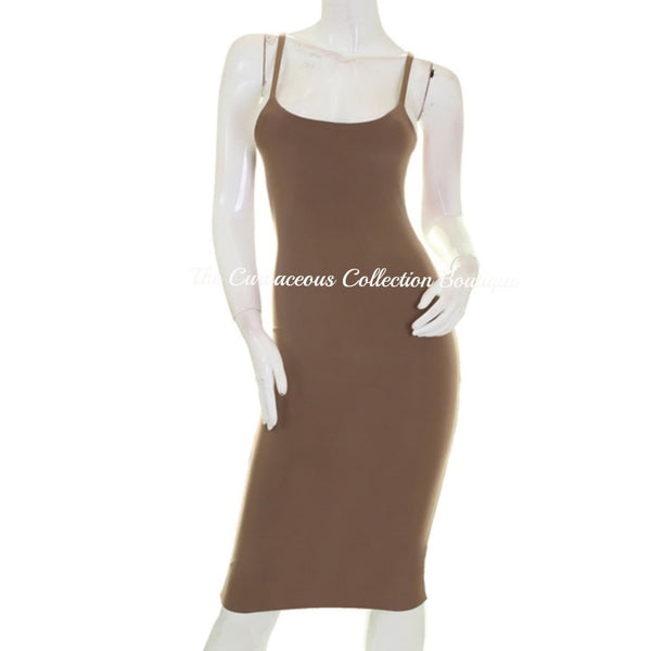 CALISE UPTOWN BODY-CON DRESS - Medium / Mocha