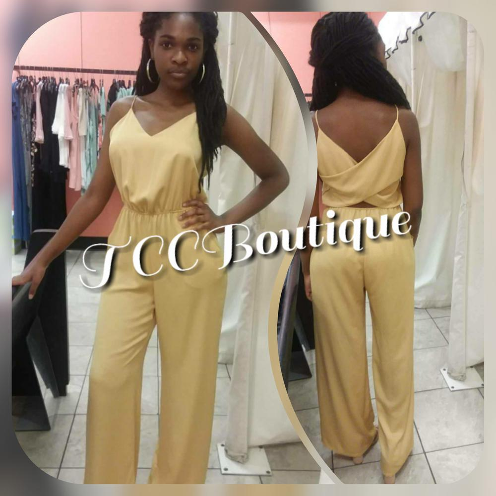 CRYSTAL CROSS BACK JUMPSUIT LS-Jumpsuits & Rompers-Small-