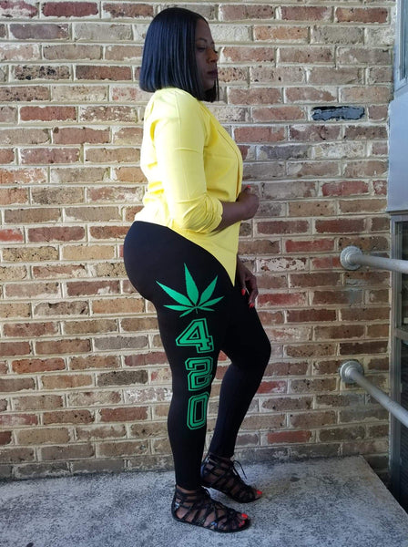 CHAOS LEGALIZE IT LEGGINGS-Bottoms-