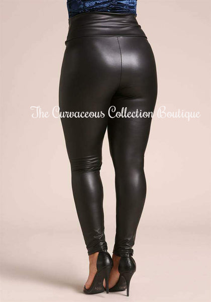 CHAOS BLACK LICORICE LEGGINGS-Bottoms-5XL-