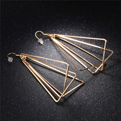 Triangle Fashion Dangle Earrings
