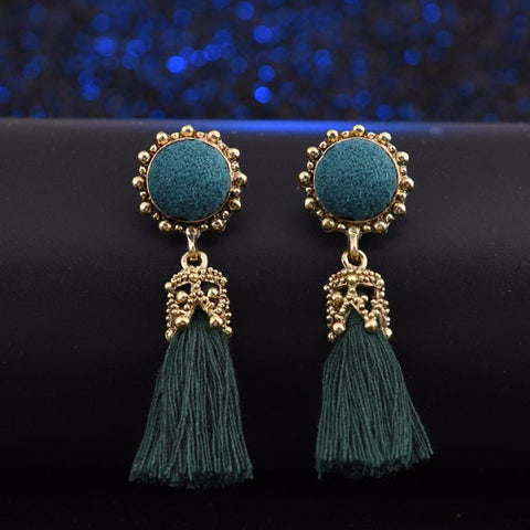 Tasseled Royalty Earrings