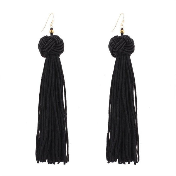 Bohemian Knot Today Tassle Earrings