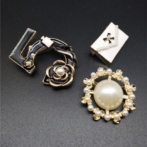 Chanel Inspired Handmade Brooch