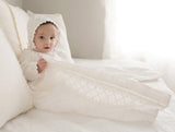 heirloom Christening Gown by Burbvus Model B001