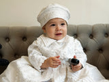 Christening outfit with matching beret fo baby boys