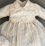 Christening Gown by Burbvus Handmade Ivory