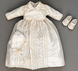 Christening Gown Burbvus B001 Matching baby shoes