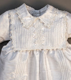 Christening Gown B002 Handmade Burbvus, Color white upper part