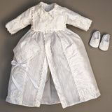 Christening Gown B002 White Color Handmade Burbvus