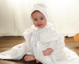 Baby Ezra wearin our Christening Gown B003 Handmade Burbvus