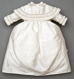 Christening Gown B003 Handmade Burbvus, Ivory Color Skirt Details Back part