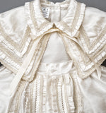 Christening Gown B002 Handmade Burbvus, Ivory color Upper part details