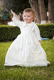 Baby Boy on his Christening Gown B007 Handmade Burbvus without the Cape