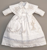 Christening Gown B007 Handmade Burbvus White Color