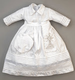 Christening Gown B007 Handmade Burbvus White Color without the cape