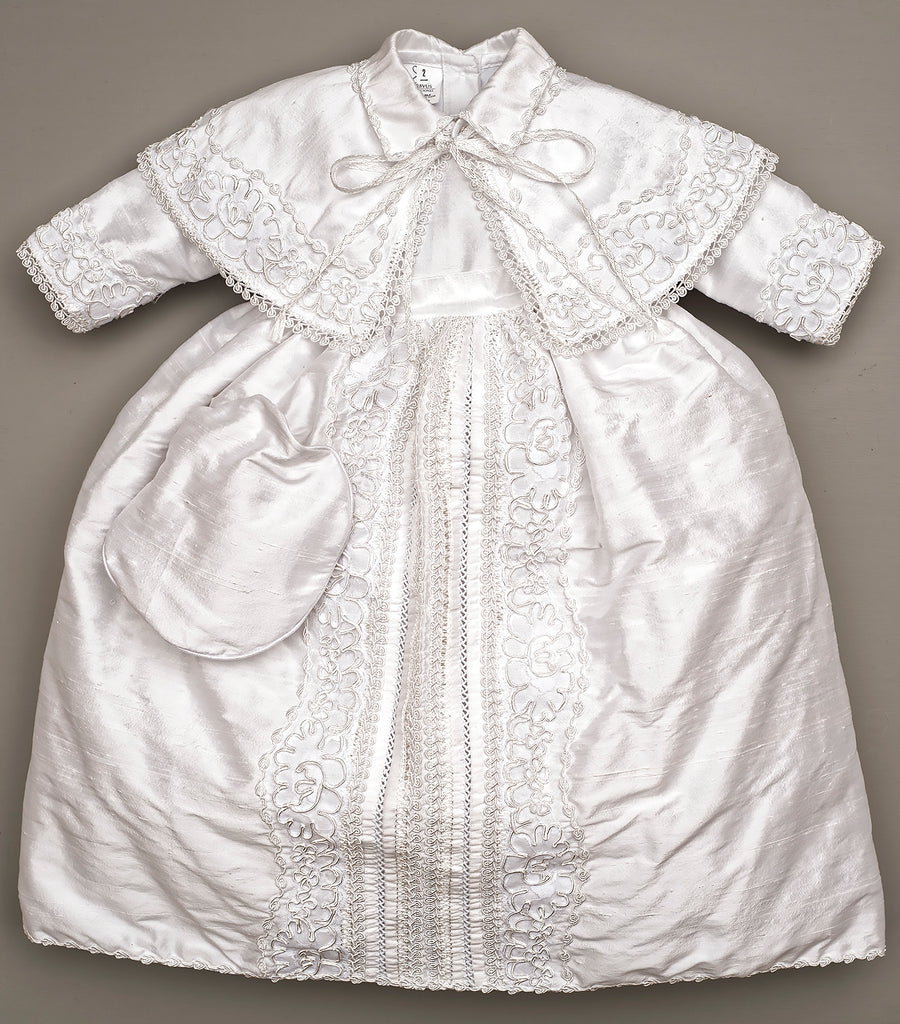 Handmade Christening outfit B008  Baby boy Mariachi style White Color