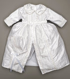 Christening Outfit B009 Handmade Burbvus White color
