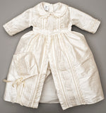Baby boy Christening Gown Burbvus B009, hand made Ivory color