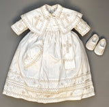 Baptism Outfit B011, with possible matching shoes and hat