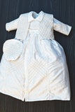 White Handmade Burbvus Baptism Gown Detachable Skirt and Vest