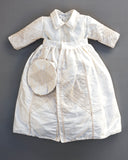 Removable Vest on Christening Gown B015 100% handmade