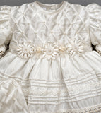 Handmade details Baptisim Dress G001 Ivory Color