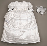 Baptism Dress G001 With matching shoes and hat