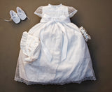 Handmade Christening Dress G005 with tiara, hat and possible matching shoes color white