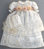 Christening Girls Gown In Ivory color