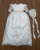 Elegant full-length Christening gown Burbvus G025
