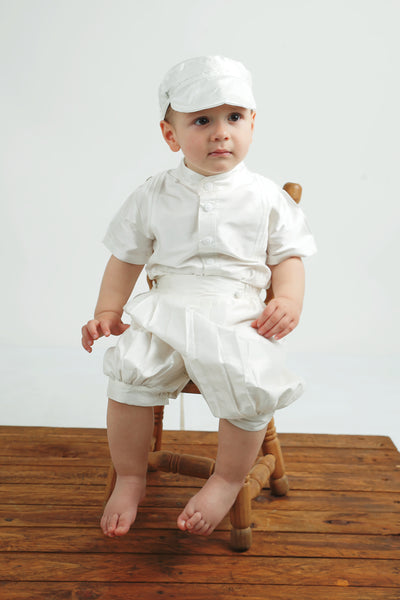silk christening outfit for baby boys burbvus b020 white