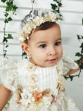 Baptism diadem christening gown