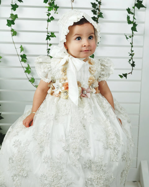 handmade lace christening gown for baby girls burbvus