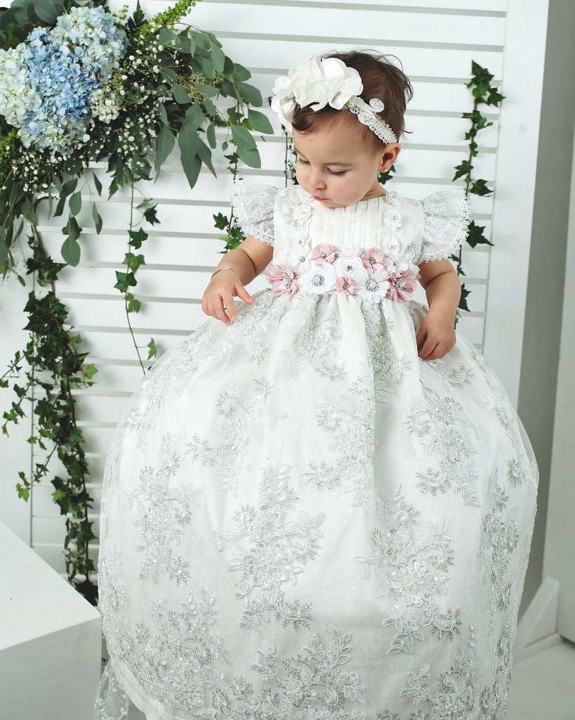 handmade lace baptism outfit baby girls burbvus g023