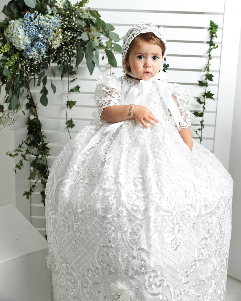 lace christening gown for girls g025 burbvus
